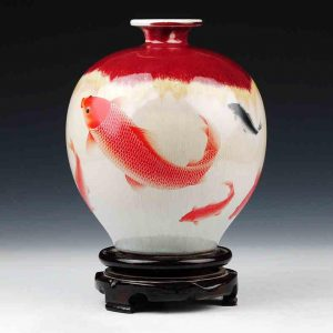 C60 Fish design Ceramic Vases