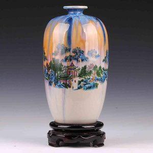C61 11inch Landscape design Ceramic Vases