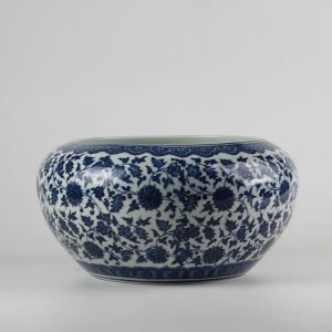 C73-4 d10inch Ceramic Blue and White Fishbowl