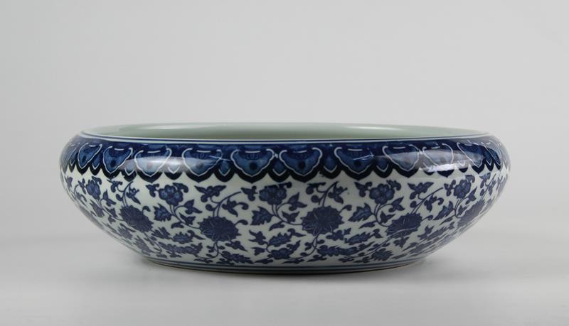 Blue And White Ceramic Fish Bowls Jingdezhen Shengjiang