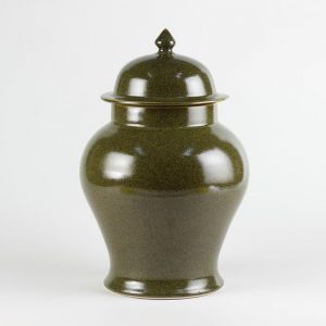 C76-2 h14inch Tea dust glazed Ginger Jar