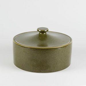 """C76-18 9.5"""" Tea Dust Glazed Ceramic Tea Jars"""