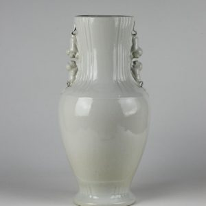 C82-4 White Ceramic Handled Vases