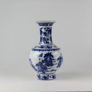 C84 White Blue Ceramic Vases
