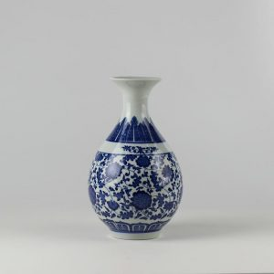 C85 White and Blue Ceramic Vases