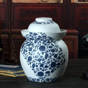C88-01 Floral design Blue and White Pickle Jars