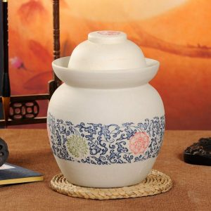 C88-02 Matte Blue and White Pickle Jars