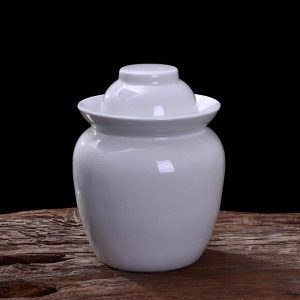 Fine Crackle Ceramic Pickle Jars