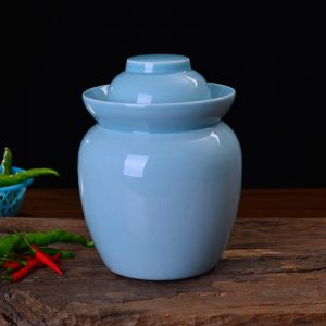 Solid Color Ceramic Pickle Jars
