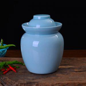 Solid Color Ceramic Pickle Jars