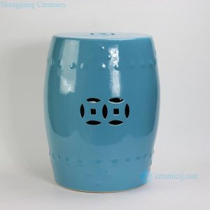 RYIR104-B Blue Ceramic Garden Stool