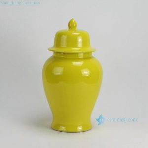 RYKB117-A-F Solid color Ceramic Ginger Jars
