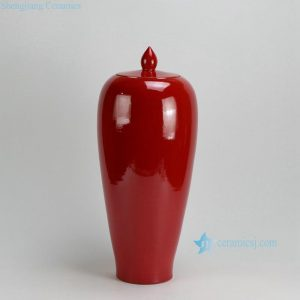 "RYKB119-A-F 20.7""Tall Solid color Ceramic Ginger Jars"