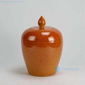 "RYKB121-A-D H12"" Melon shape Plain Color Ceramic Jars"