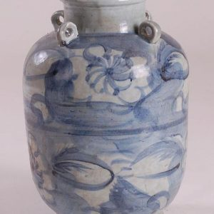 Blue and White Ceramic Vase Bowl Pot