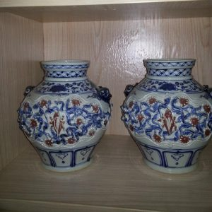 Ming reproduction porcelain vases and jar