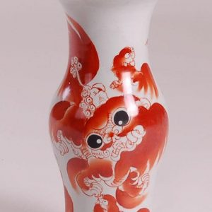 Ceramic Foo Dog Vase