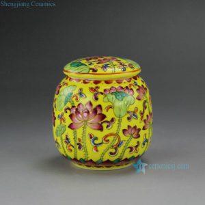 RYIC32 Hand Painted Enamel Tea Jars