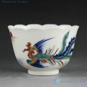 RYLC Hand Painted Doucai Tea Cups