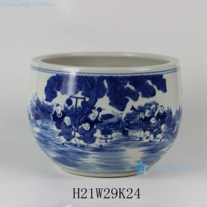 "RYLU32 11.5"" Hand painted Children Ceramic Fish bowls"