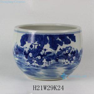 """RYLU32 11.5"""" Hand painted Children Ceramic Fish bowls"""