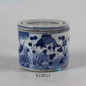RYLU50 Blue and White Ceramic Pots