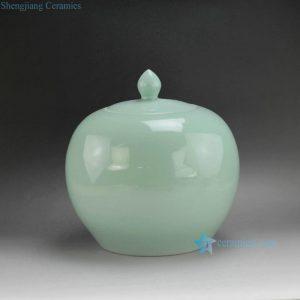 "RYNQ173 11"" Light Color Ceramic Lidded Jars"