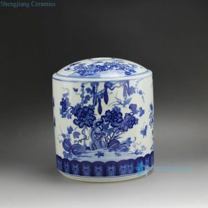 RYSN17 Blue and White Melon Tea Jar