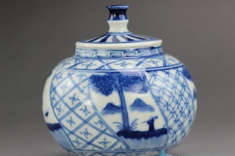 RZBP01-B Blue White Ceramic Tea Pot