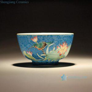 RZFK01 Jingdezhen Handmade Needle Painting Tea Cups