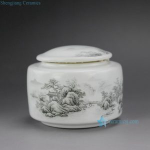 "RZFL03 4"" Ceramic Tea Jar"