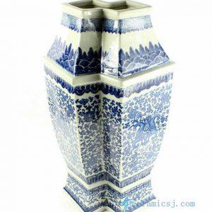 """RYTM31 h21"""" wholesale blue and white fish shape vases"""