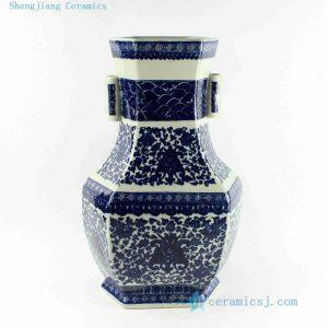 "RYTM34 h18.5"" wholesale floral blue and white porcelain vases"