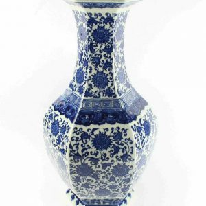 "RYTM36 h20.5"" wholesale blue and white porcelain floral vases"