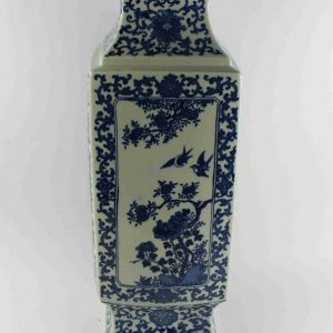 "RYTM40 h20"" wholesale blue and white flower bird medallion ceramic vase"