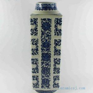 """RYTM41 h19.5"""" wholesale blue and white flower ceramic vase"""