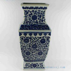 "RYTM44 h21"" wholesale blue and white ceramic square vase"