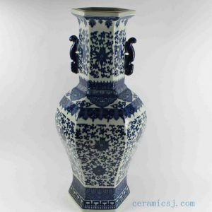 "RYTM46 h22.5"" wholesale blue and white floral ceramic vase"