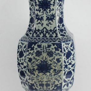 "RYJF15 h21"" Chinese Crackle Blue & White Vases"