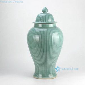 RYMA99 H23inch Bamboo design Celadon Ceramic Ginger Jar