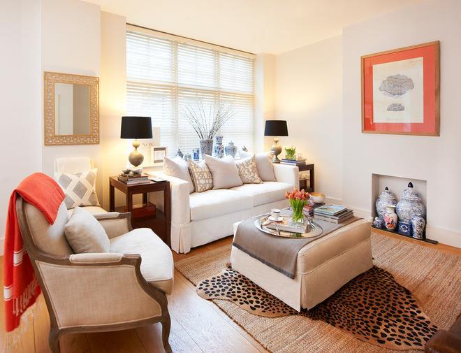 Transitional Living Room by Sasha Meredith Designs