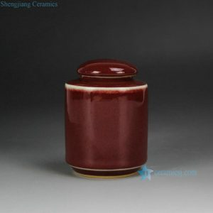 2L13 ox blood tea tin jar