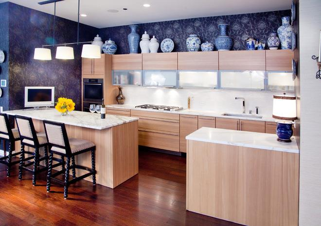Eclectic Kitchen by Lisa Wolfe Design, Ltd