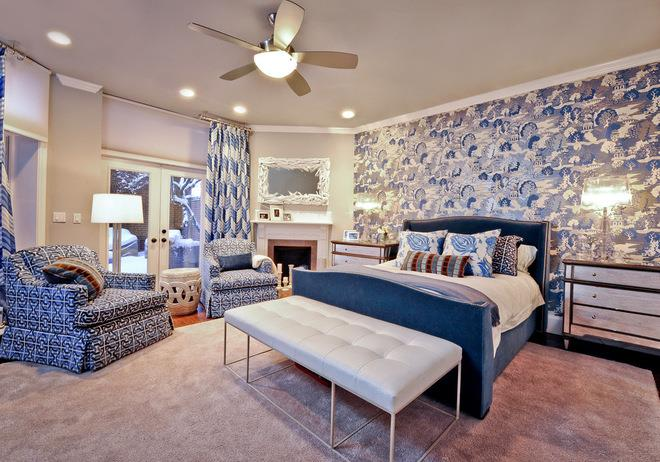 Eclectic Bedroom by Dietz & Associates Inc.