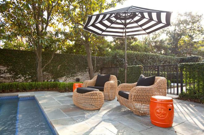 Contemporary Patio by Laura U, Inc.