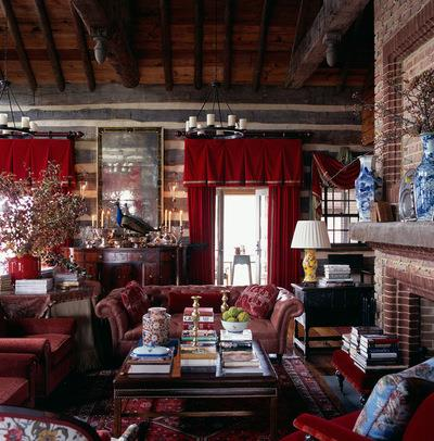 Rustic Living Room by Johnson Berman