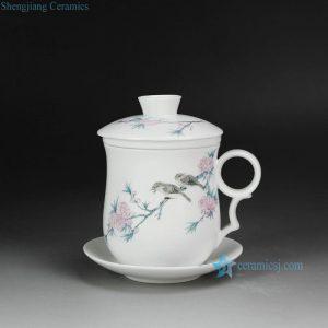 CBAD05-D Flower Bird design Cearmic Tea Mug