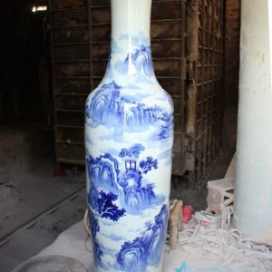 RYFJ10 Blue and White Large Porcelain Floor Vase