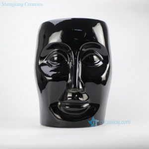 RYIR112-A Ceramic Black Face Stool