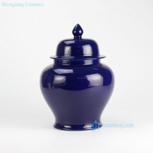 RYKB131-E Dark Blue Ceramic Ginger Jar